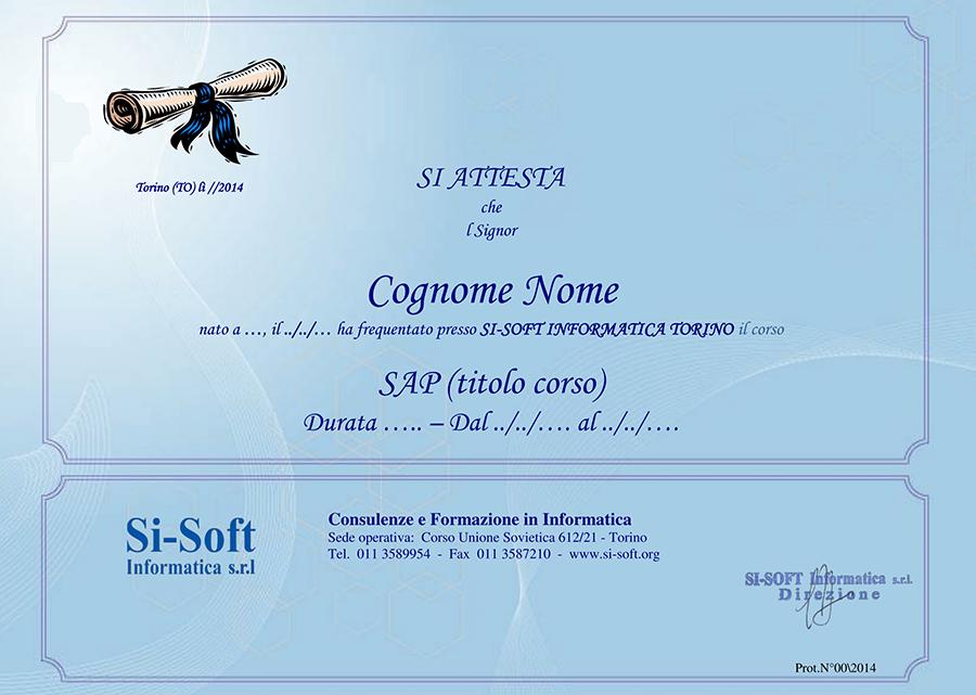si-soft-template-attestato-1 Quanto tempo occorre per conoscere SAP?